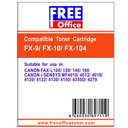 Free Office FX-10 CANON FAX-L100 / 120 / MF4010 / 4012 / 4018 Laser Toner SİYAH
